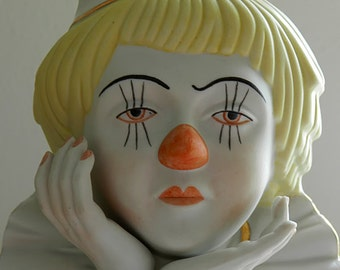 Porcelain Clown Bust.