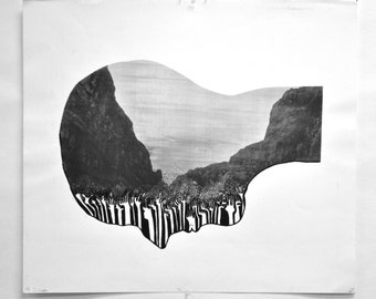 Mt. Silhouette, screenprint