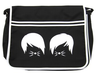 Dan and Phil Cats Whiskers Vlogger Youtube Shoulder Messenger School Bag Black