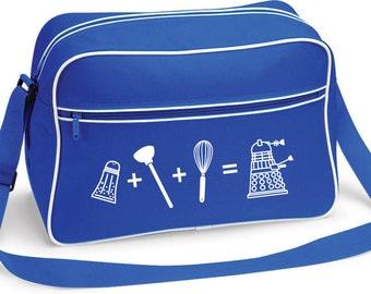 Doctor Who Dalek Equation Retro Shoulder School Bag Royal Blue