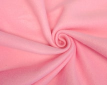 """Pink Solid Polar Fleece Fabric Anti-Pill 60"""" Wide By the Yard"""