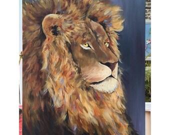 ORIGINAL Lion painting (80X60cm)