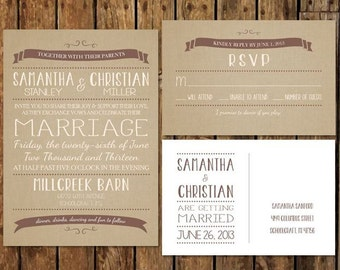 Diy custom printable reception invitations rsvp after the diy custom rustic burlap wedding invitation and rsvp printable template country themed brown tan solutioingenieria Images