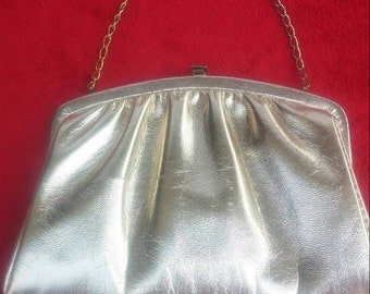 Vintage Gold metallic evening bag