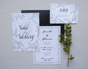 Wild Wedding Invitation Suite
