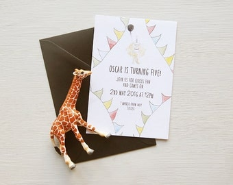 Circus boy Birthday Party Invitation