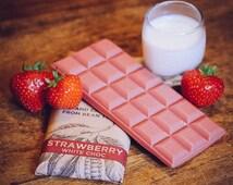 Vegan White Chocolate - Strawberry