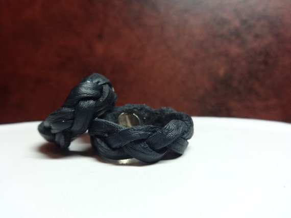 Unisex Braided Leather rings, braided leather bands, braided bands, braided unisex rings, braided rings, men's rings, men's leather, women's