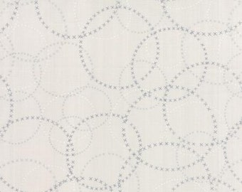 Modern Background Paper - Circles in Graphite on Fog by ZEN CHIC for Moda 1584 17