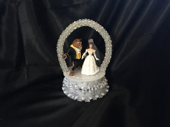 beauty and the beast wedding cake toppers and the beast wedding cake topper in white 11251