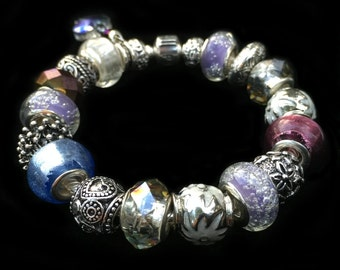 Genuine Pandora Bracelet - PASTEL PERFECTION - with European Style Beads