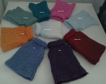 Sweaters For Cat Dog Sweater Dog Jumper Plain - pet Clothing - Choose Your Sweater Colour