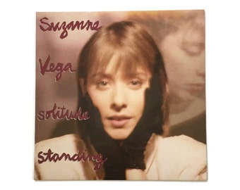 "Suzanne Vega, ""Solitude Standing"", vinyl record album, new wave LP, 1980s, folk, singer songwriter, luka, tom's diner"