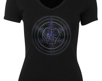 Dodecahedron - Platonic Solids Womens V neck Tshirt