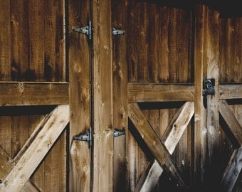 Photograph, Wooden Barn Door