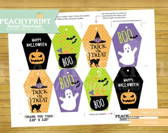 Halloween Thank You Tags Instant Download