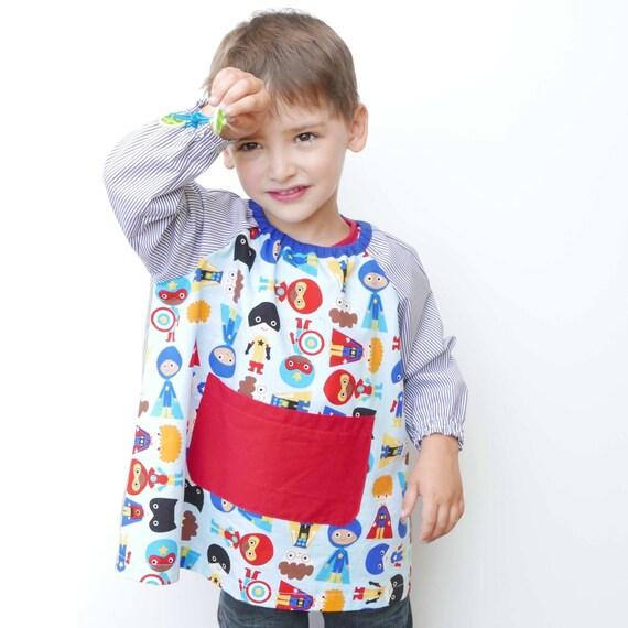 Baby School Smock PDF Pattern:school Apron By Coloursforbaby