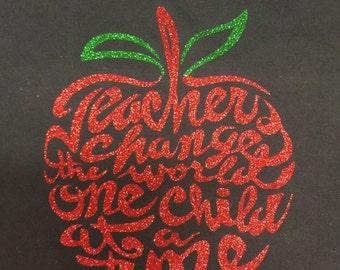 Teacher's Glitter Shirt