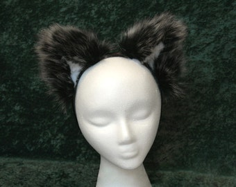 Faux Fur Wolf Canine Ears - (Small or Large)