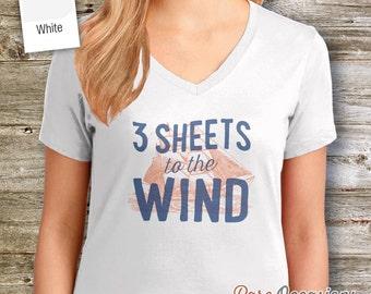 Sailing Shirt or Gift For Sailors, Sailing T Shirt, Nautical Shirt, Beach Shirt, Boat Shirt, Boating Shirt, Sailing Boat, Women's Crew Neck!
