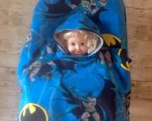 Bat Man Toddler Car Seat Poncho
