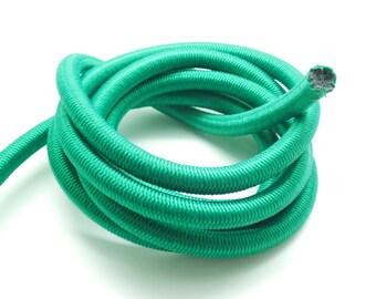 x 1 metre of rope elastic nylon Paracord green 10 mm