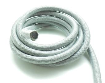 x 1 metre of elastic rope nylon Paracord grey 10 mm