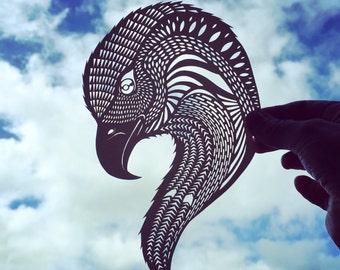 Spirit of an Eagle - Jo Chorny - papercut art