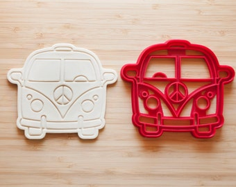 VW Bus.  Cookie cutters. Gingerbread and cookies. Cupcake topper
