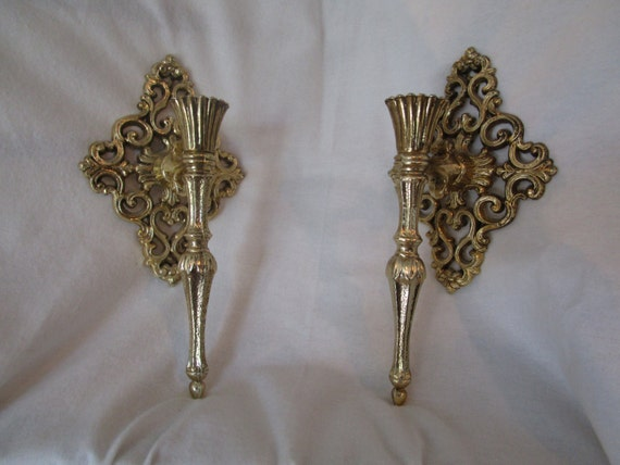 Brass wall sconce wall sconce brass wall decor wall