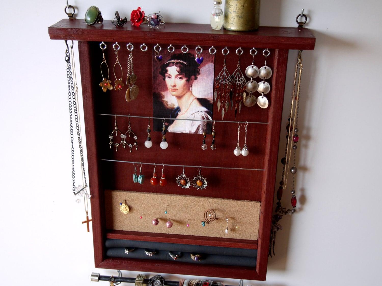 organisateur de bijoux support de boucle doreille. Black Bedroom Furniture Sets. Home Design Ideas