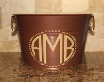 Monogrammed ICE Bucket-15 inches wide