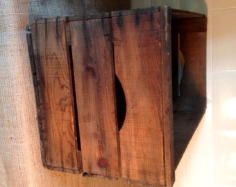 """Genuine Vintage French Wooden Crate - """"Soaped"""" Finish"""