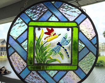 Dragon Flies -Stained Glass