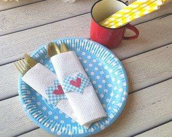 Paper napkin Rings-napkin holder-napkin wraps-personalized napkins-printable Napkin holder-downloadable-valentine-romantic-INSTANT DOWNLOAD