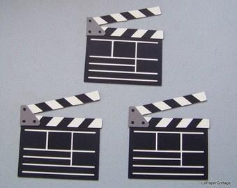 Movie clapboard die cut