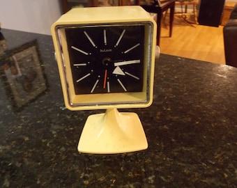 Vintage Bulova Alarm Clock Mid Century Retro Look