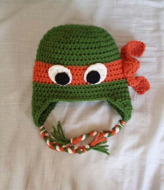Ninja Turtle Crochet Hat Pattern With Ear Flaps Traitoro For