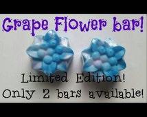 Grape Flower Bars,  flower bar soap, vegan soap, organic soap, all natural soap, homemade soap, cute soap, girly soap, flower soap