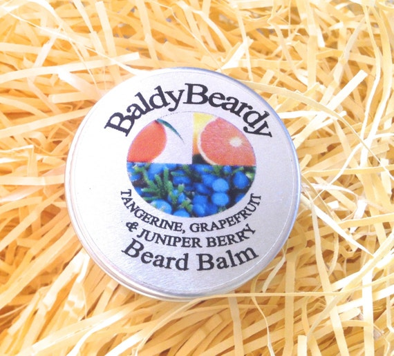 Tangerine, Grapefruit and Juniper Berry beard balm. A creamy balm with ...