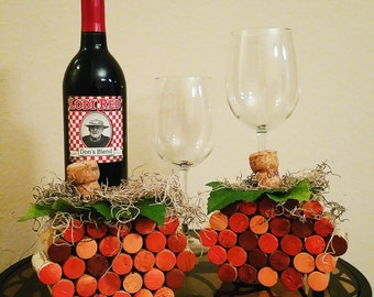 Festive Wine Cork Pumpkin