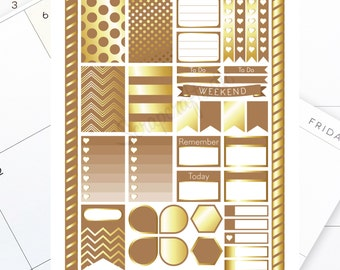 Brown & Gold Printable Planner Stickers for the Classic MAMBI Happy Planner