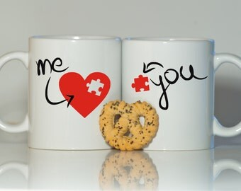 His and hers mugs-Mr and Mrs mugs-Wedding mugs-Valentine's day mugs-Funny coffee mug-Wedding-Mr-Mrs-Me and you-Valentine's day gift