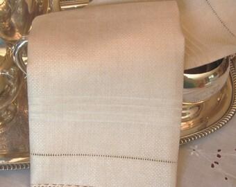 Elegant, Vintage Damask Huck Linen Towel w/Vintage Cotton Cluny Lace Trim.  Lovely By Itself, or have it Monogrammed!