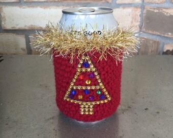 Christmas Beer Cozy, Beer Cozy, Beer Can Sleeve, Beer Cosy, Christmas Beer Sleeve, Christmas Novelty, Christmas Drinkware, Beer Can Cosy