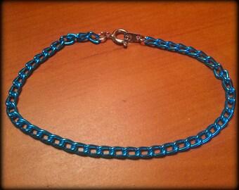 Turquoise Curb Chain Bracelet