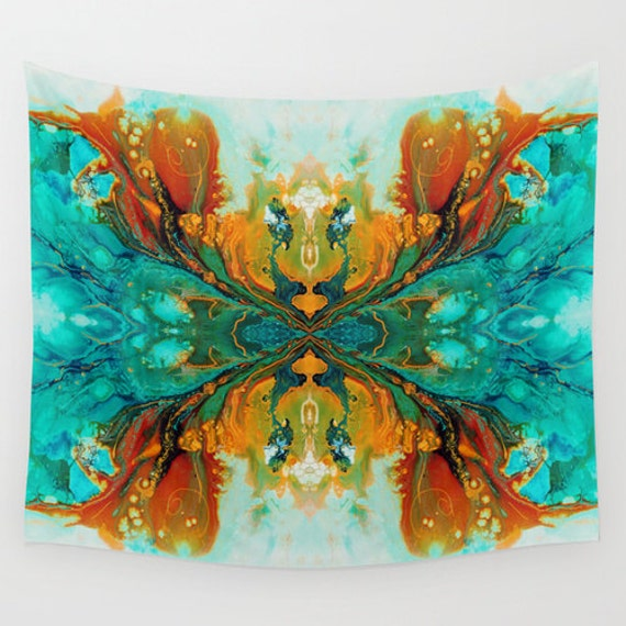 Wall Tapestries Wall Hanging Tapestry Teal By