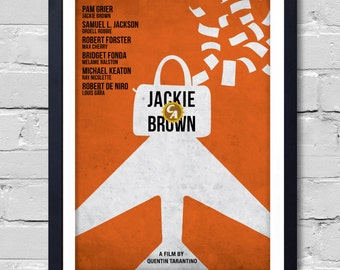 Quentin Tarantino Minimalist Movie Poster Jackie Brown