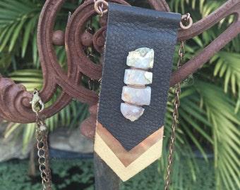 Leather Pendant.