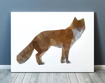 Colorful decor Fox art Nursery print Animal poster TO187-1